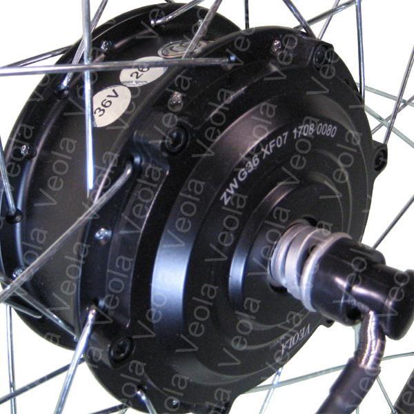 Заспицованное мотор колесо на переднюю ось электровелосипеда 36V 350W
