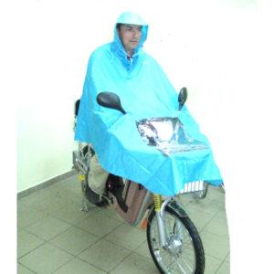 Вело плащ с окном для передней фары электровелосипеда
